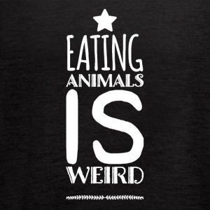 Eating animals is weird - Women's Flowy Tank Top by Bella