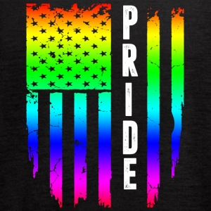 Gay Pride Rainbow American Flag - Women's Flowy Tank Top by Bella