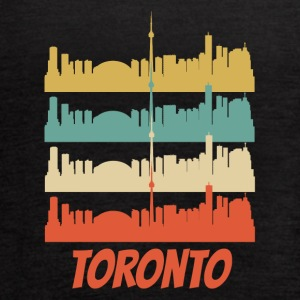 Retro Toronto Canada Skyline Pop Art - Women's Flowy Tank Top by Bella