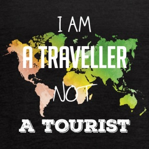 I am a traveller not a tourist - Women's Flowy Tank Top by Bella