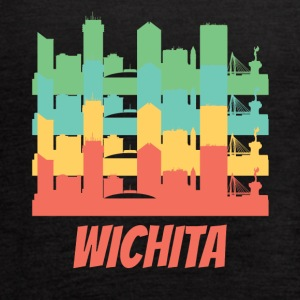 Retro Wichita KS Skyline Pop Art - Women's Flowy Tank Top by Bella