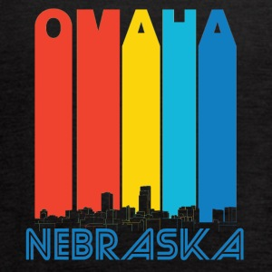 Retro Omaha Nebraska Skyline - Women's Flowy Tank Top by Bella