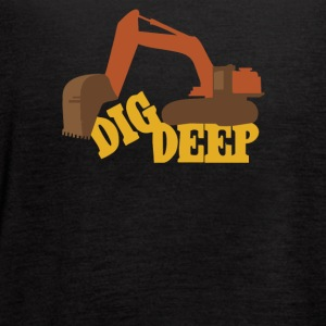 Dig Deep Gold Rush - Women's Flowy Tank Top by Bella