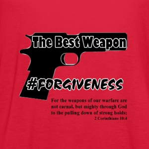 Forgiveness black - Women's Flowy Tank Top by Bella