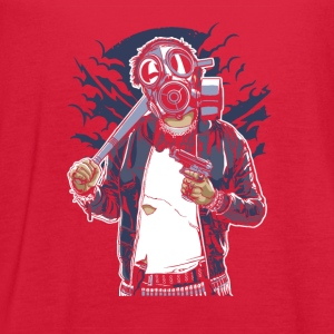 Gas Mask Bastard. The crazy thug and streetfighter - Women's Flowy Tank Top by Bella
