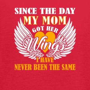 Day Mom Got Wings I Have Memories Mom - Women's Flowy Tank Top by Bella