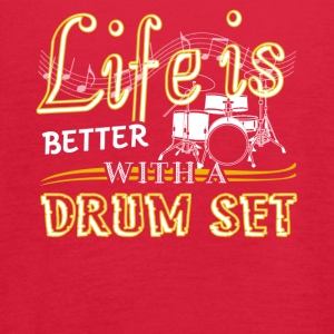 Life Is Better With Drum Set Shirts - Women's Flowy Tank Top by Bella