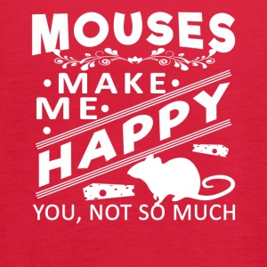 Mouse make me happy Shirt - Women's Flowy Tank Top by Bella