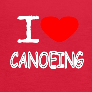 I LOVE CANOEING - Women's Flowy Tank Top by Bella