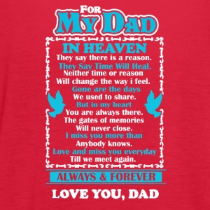 Dad In Heaven Shirt - Women's Flowy Tank Top by Bella