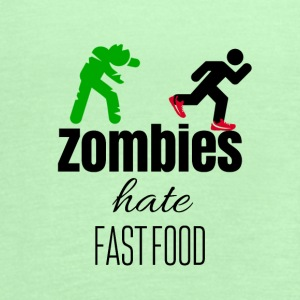Zombies and fast food - Women's Flowy Tank Top by Bella