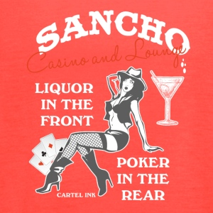 Sancho casino and lounge Liquor in the front - Women's Flowy Tank Top by Bella