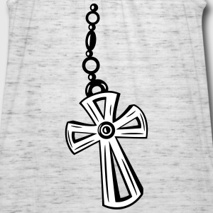 Cross, Crucifix with gemstone. - Women's Flowy Tank Top by Bella