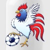 Rooster Posing and Stepping on a Soccer Ball - Water Bottle