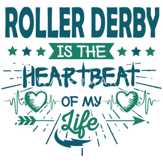 Heart Roller Skating Skater Derby Quotes Gifts Fun Water Bottle - white