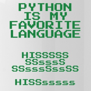 python is my favorite language - Water Bottle