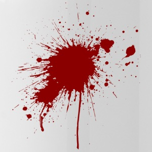 Blood Spatter From A Bullet Wound - Water Bottle