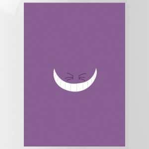 minimalist cheshire cat w lightly grainy backgroun - Water Bottle