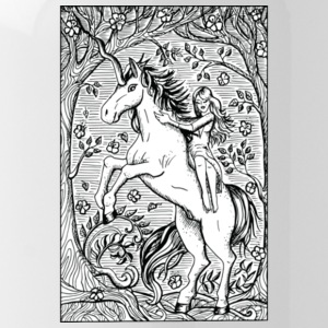 Unicorn Ride A Horse Gift Shirt Preminium - Water Bottle