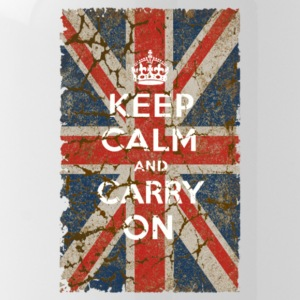 UK Flag and Keep Calm Hybrid - Water Bottle
