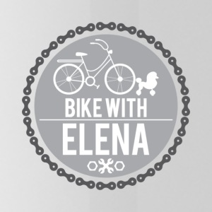 bike with elena - Water Bottle