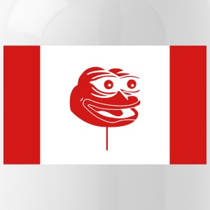 Canadian Pepe Flag - Water Bottle