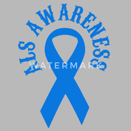 ALS Awareness Warrior Blue Ribbon Water Bottle | Spreadshirt