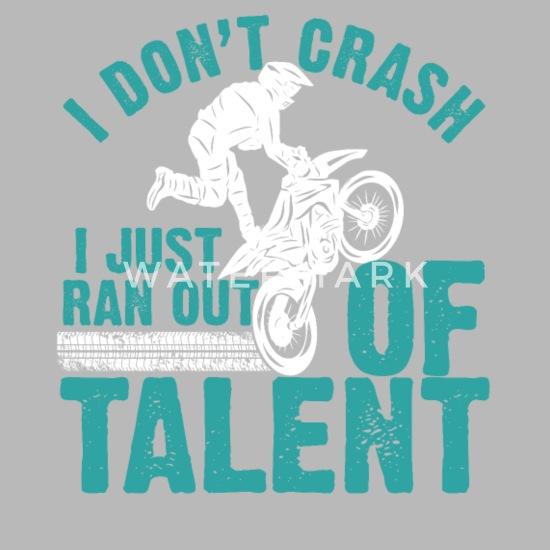 motocross dirt bike racing ran out of talent water bottle spreadshirt spreadshirt