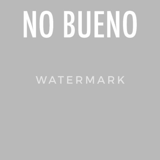 No Bueno - No Good Spanish Slang Water Bottle - silver