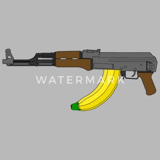 3541ba2c AK-47 with banana clip Water Bottle | Spreadshirt