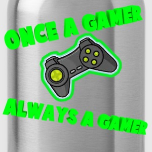 Once A Gamer Always A Gamer - Water Bottle