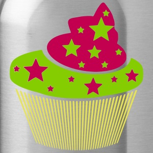muffin with stars (variable colors!) - Water Bottle