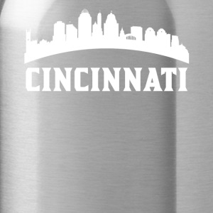 Vintage Style Skyline Of Cincinnati OH - Water Bottle