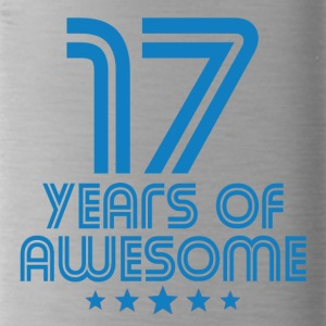 17 Years Of Awesome 17th Birthday - Water Bottle