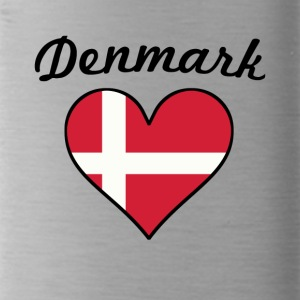 Denmark Flag Heart - Water Bottle