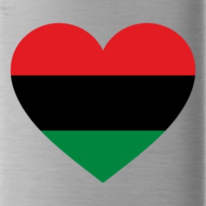 Pan-African History Flag Love Heart Symbol - Water Bottle