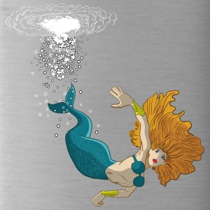 Mermaid diving - Water Bottle