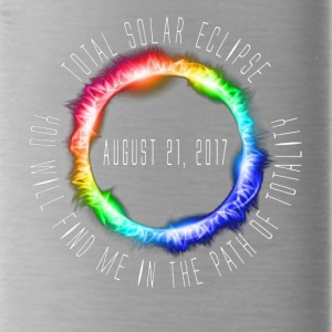 Color Total Solar Eclipse 2017 - Water Bottle