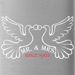 Mr And Mrs Since 1962 Married Marriage Engagement - Water Bottle