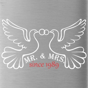 Mr And Mrs Since 1989 Married Marriage Engagement - Water Bottle