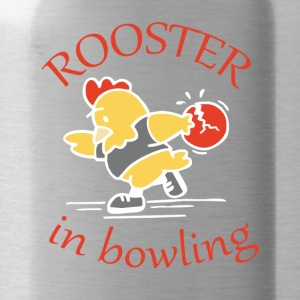 Rooster in Bowling - Water Bottle