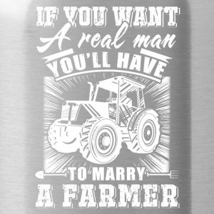 To marry a Farmer T Shirts - Water Bottle