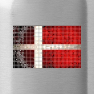 Denmark Flag Mosaic T Shirt - Water Bottle