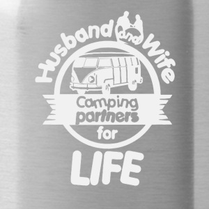 Husband And Wife Camping Partners Shirt - Water Bottle