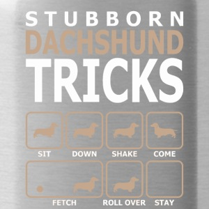 Stubborn Dachshund Tricks T-Shirt - Water Bottle