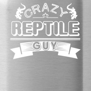 Crazy Reptile Guy Shirt - Water Bottle