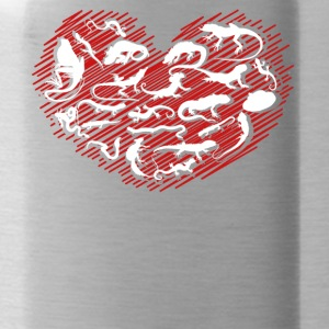Reptile Heart Shirt - Water Bottle
