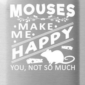 Mouse make me happy Shirt - Water Bottle
