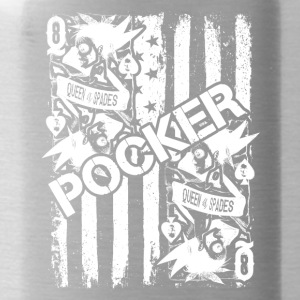 Poker Tee Shirt - Water Bottle