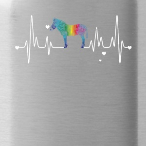 zebra heart shirt - Water Bottle